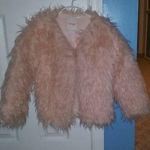 Cat & Jack Pink Fuzzy Coat